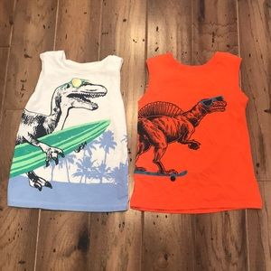 Old Navy - Dino Lover Muscle Tank Tops - Set of 2